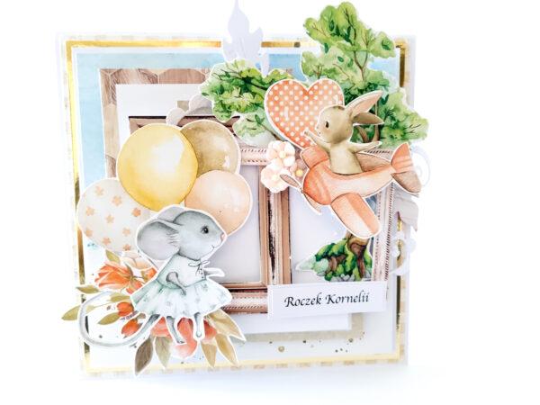 Kartka ręcznie robiona na urodziny dziecka 65