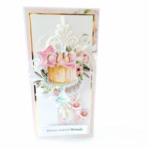 Kartka ręcznie robiona na urodziny dziecka 60