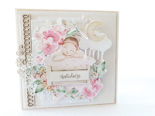 Kartka ręcznie robiona na narodziny dziecka 36