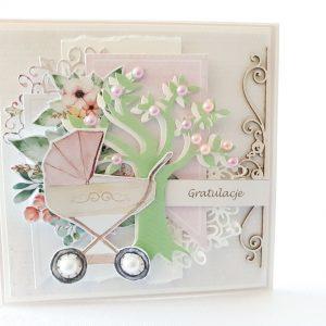 Kartka ręcznie robiona na narodziny dziecka 37