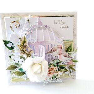 Kartka ręcznie robiona na ślub 104