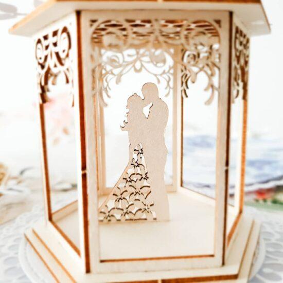 Pudełko typu Exploding box na ślub