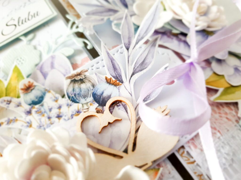 Kartka ręcznie robiona na ślub