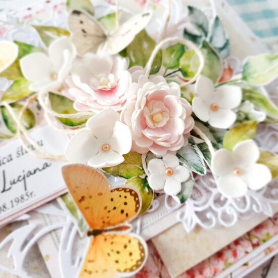Kartka ręcznie robiona z okazji rocznicy ślubu
