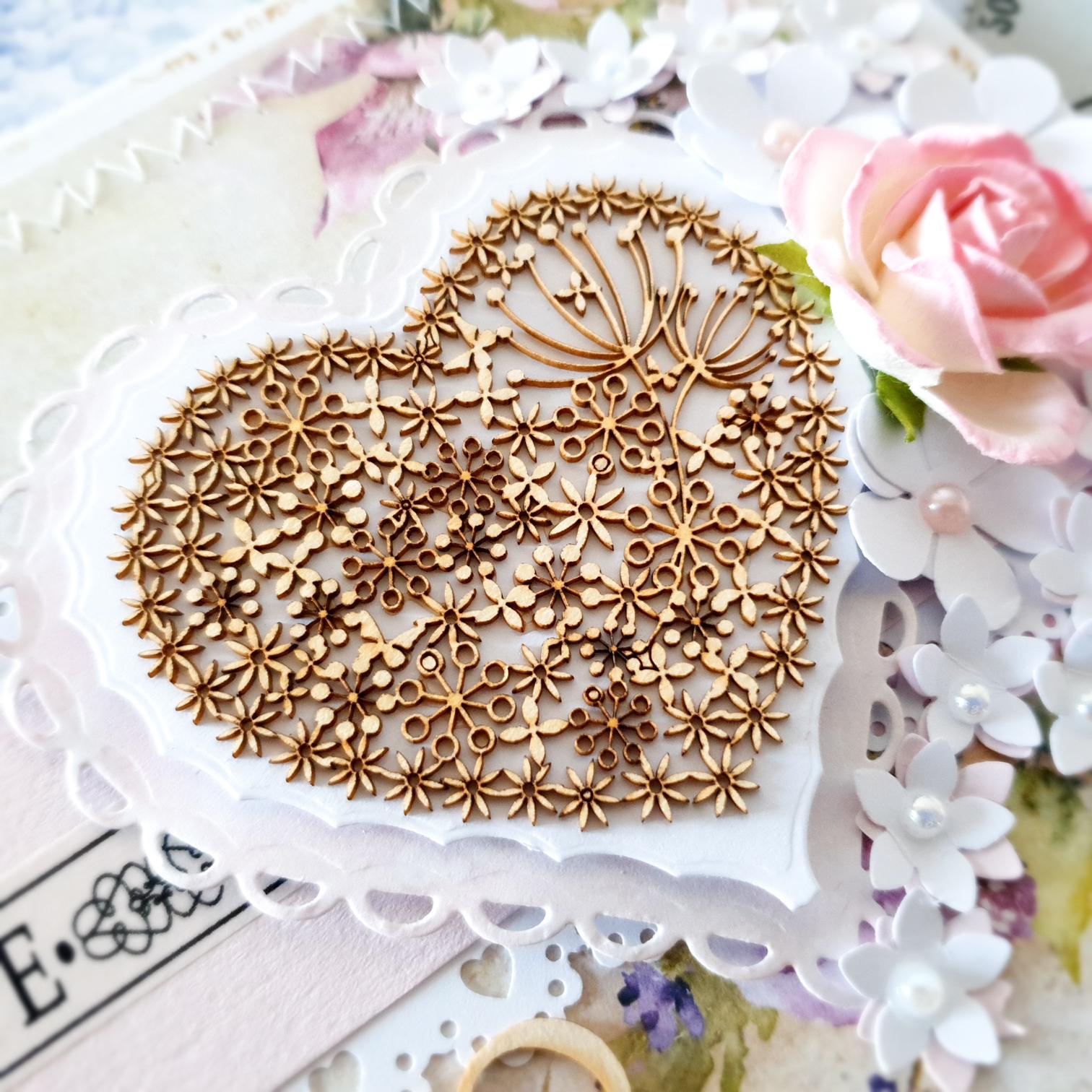 Kartka ręcznie robiona na ślub na ślub