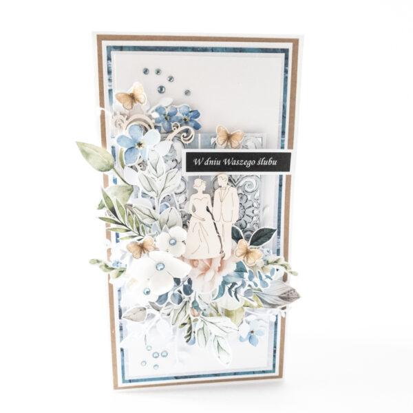 Kartka ręcznie robiona na ślub 106