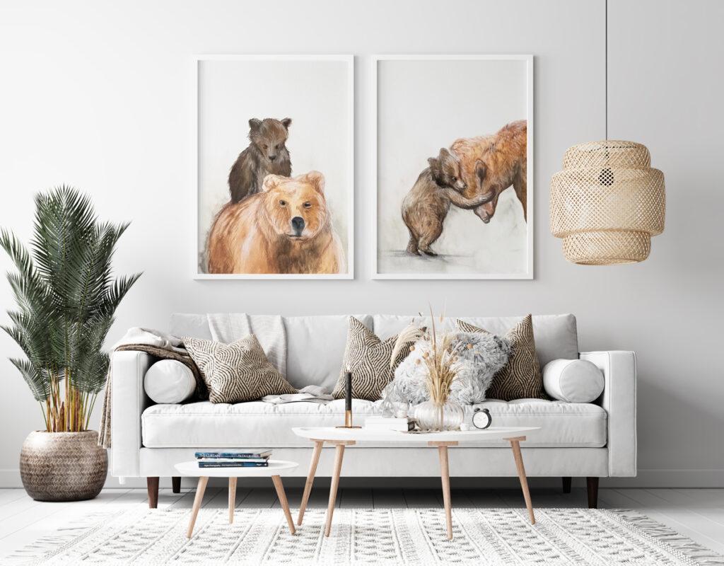 Obrazki niedźwiedzie - technika akwarele