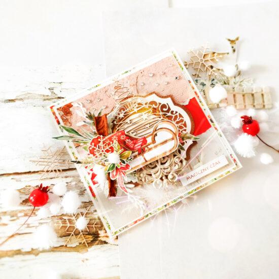 Kartka ręcznie robiona na Boże Narodzenie