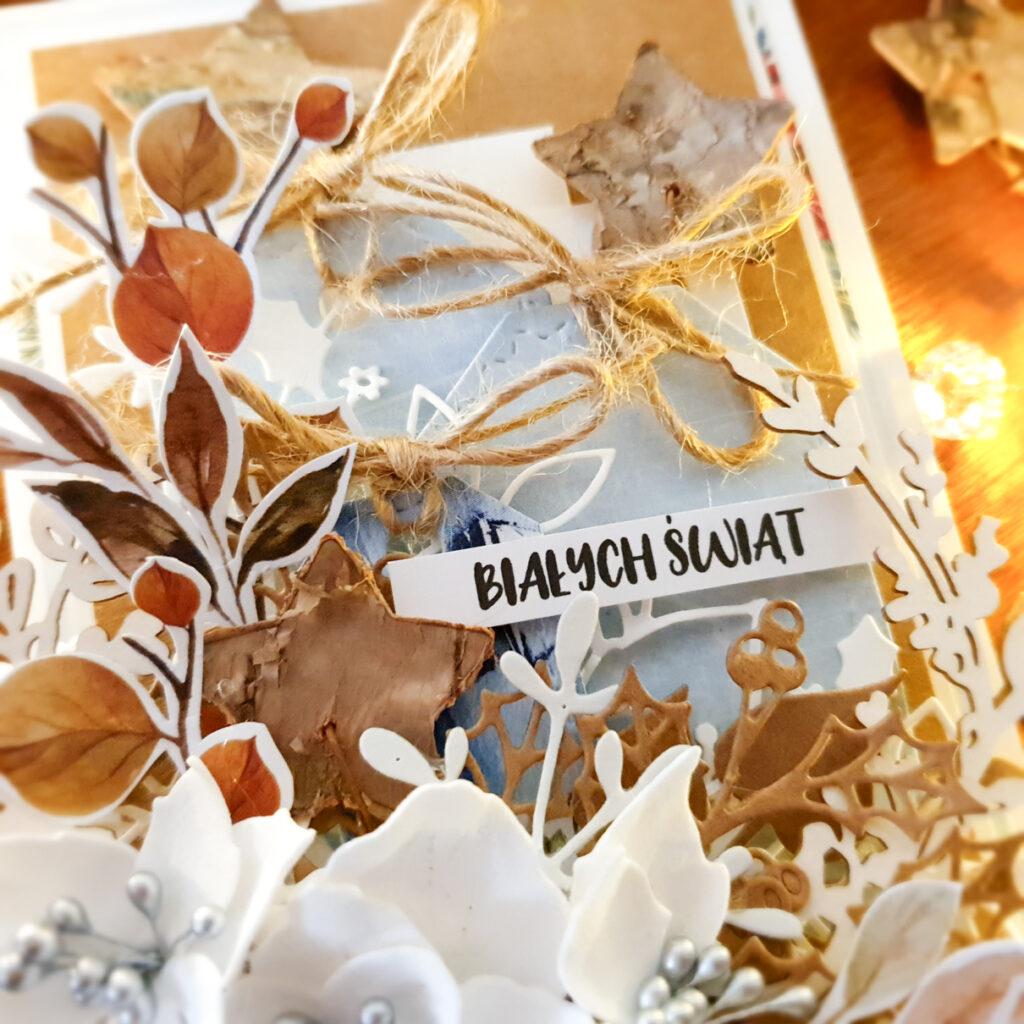 Kartka ręcznie robiona z okazji Świąt Bożego Narodzenia