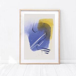 """Plakat abstrakcyjny """"Moja dusza"""""""
