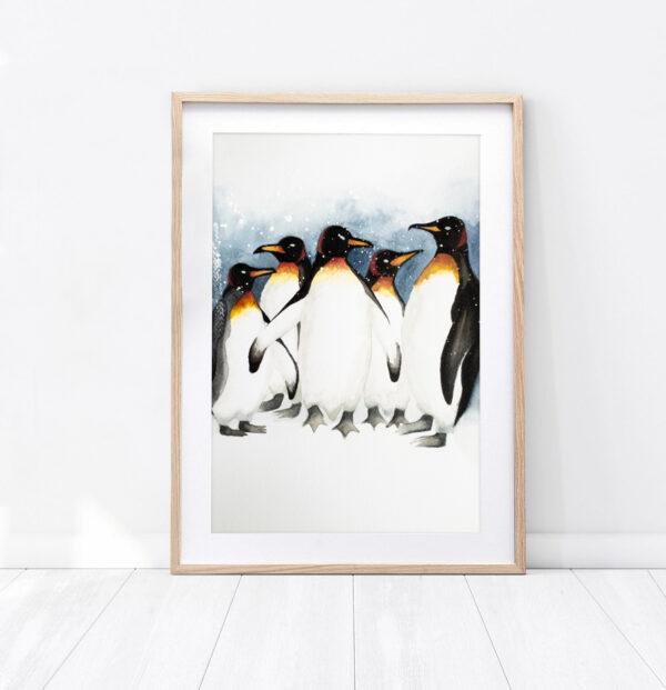 "Plakat ""Pingwiny"""