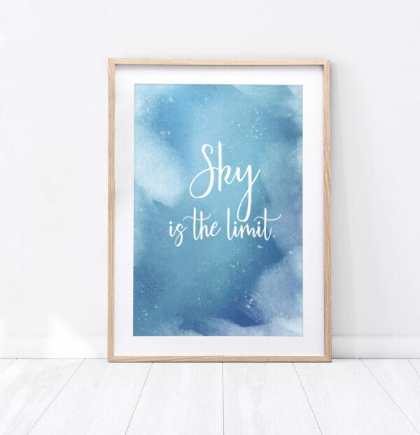 """Plakat """"Sky is the limit"""""""
