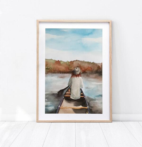"""Plakat """"Pływając łódką"""""""