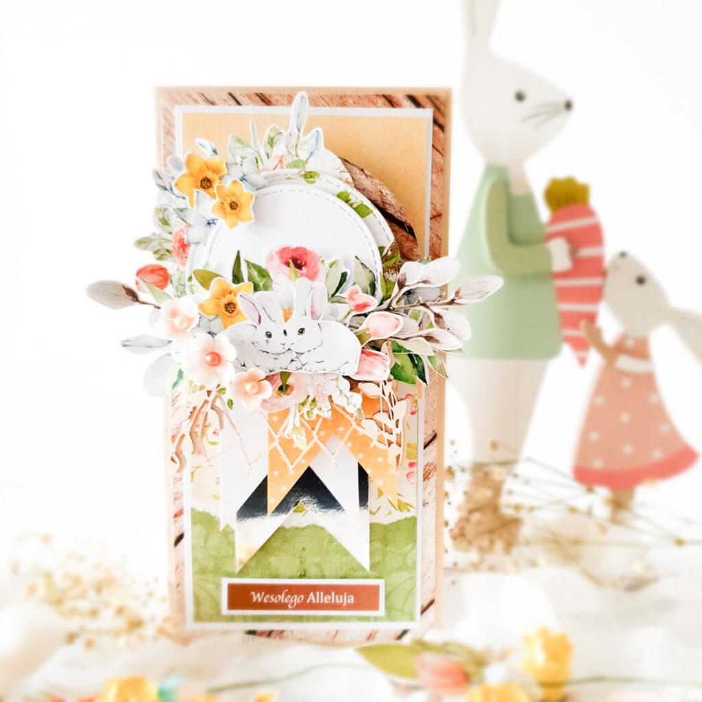 Kartka ręcznie robiona na Wielkanoc